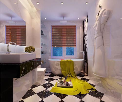 现代简约四居室卫生间浴缸装修效果图欣赏