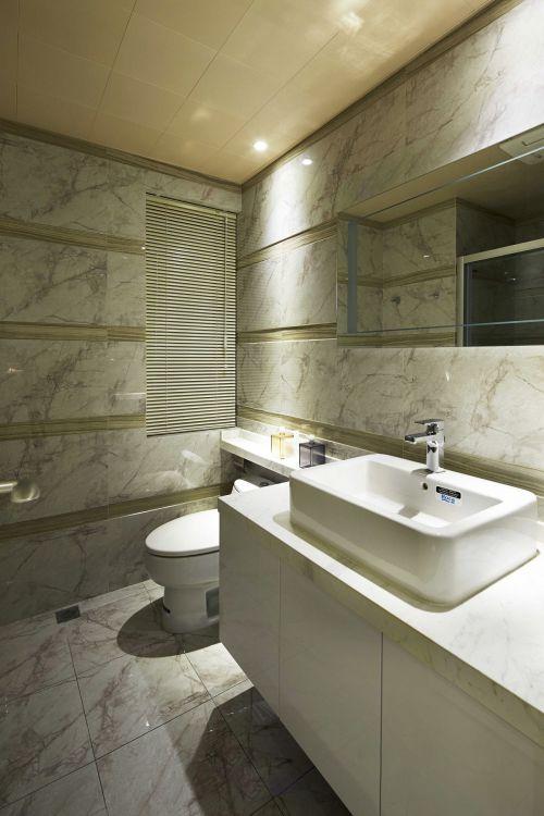 大气现代风格卫生间洗手台装修设计