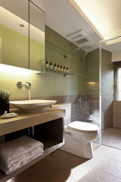 现代简约二居室卫生间吊顶装修效果图欣赏