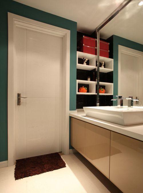现代简约四居室卫生间浴室柜装修效果图大全
