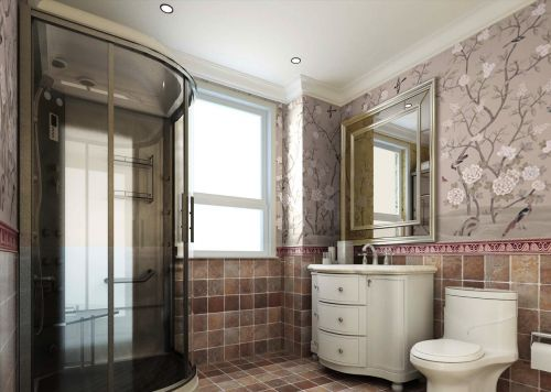 温馨的欧式风格现代卫生间装修效果图