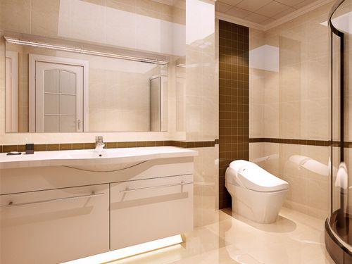 现代简约一居室卫生间装修效果图大全