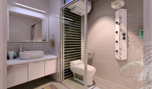 二居室现代风格卫生间淋浴间效果图