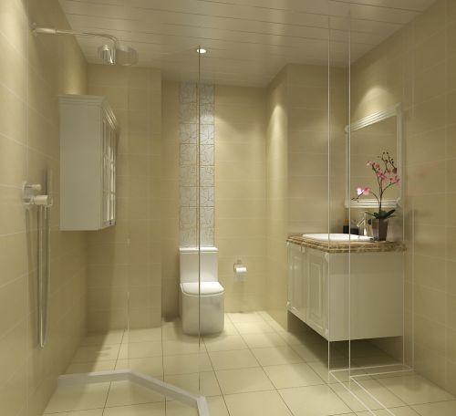现代简约复式卫生间照片墙装修效果图