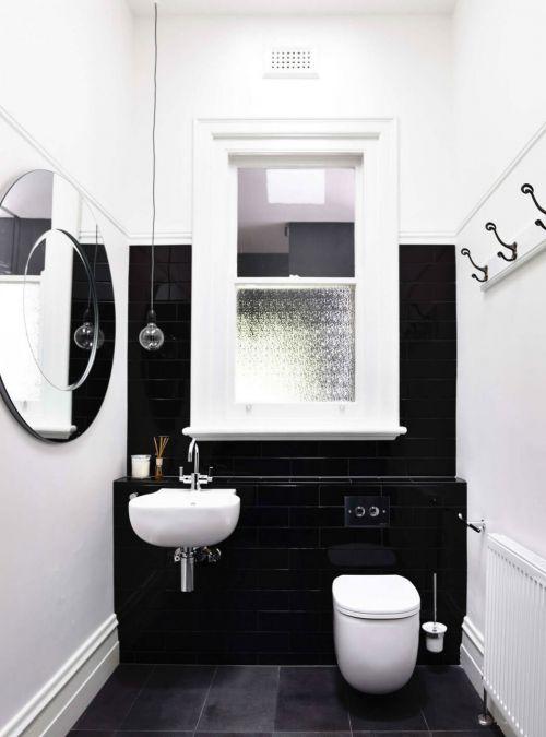 现代简约黑色组合卫生间装修效果图