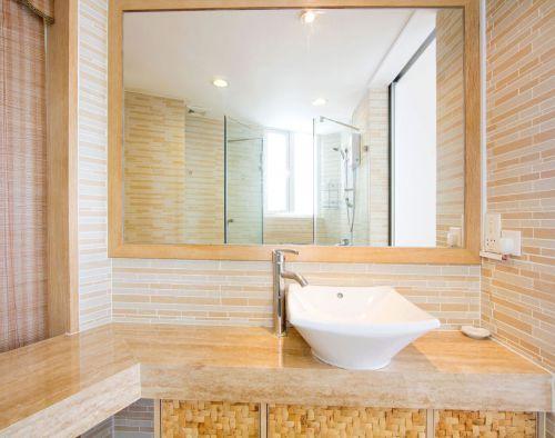 现代简约风米色卫生间台上盆洗手台