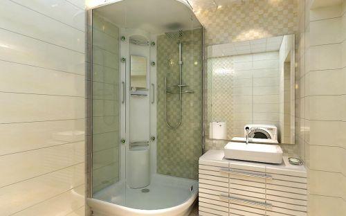 现代风格卫生间淋浴间效果图