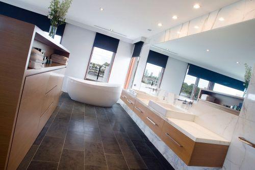 现代风格大别墅卫生间洗手台设计效果图