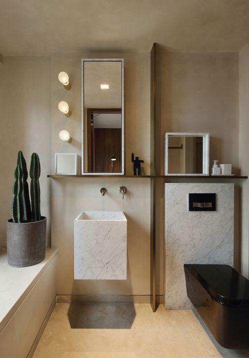 小清新现代风格卫生间装修实景图