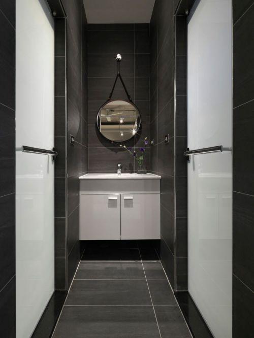 精致稳重现代风格灰色系卫生间效果图