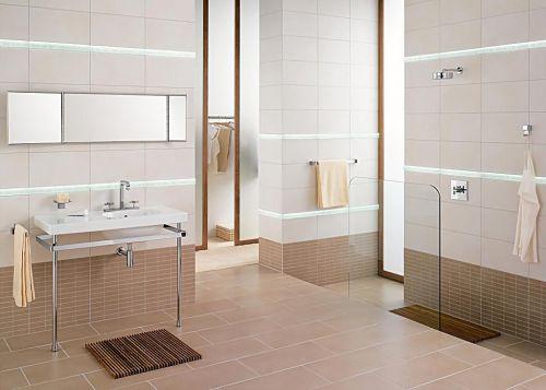 三居现代简约白色卫生间淋浴间装修效果图