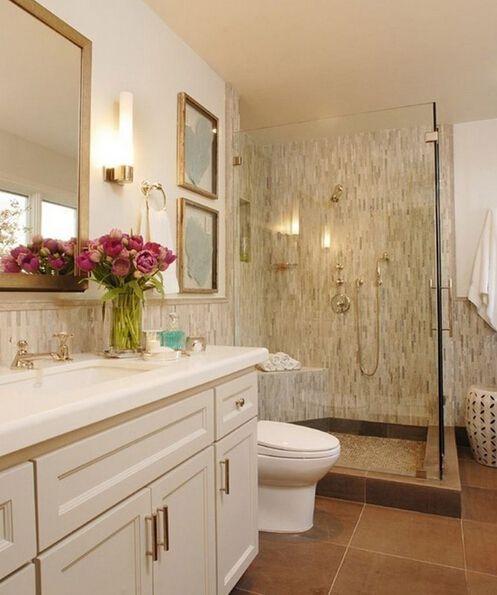 现代简约三居室卫生间储物柜梳妆台装修图片