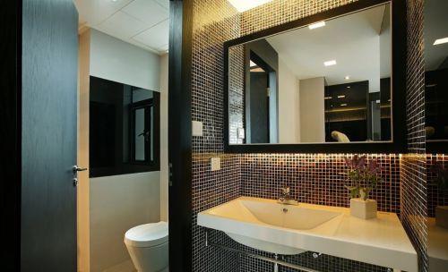 三居室现代风主卫生间洗手台设计效果图