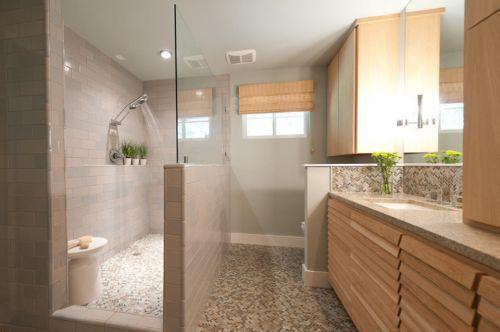 现代风格别墅时尚高档卫生间洗手台效果图