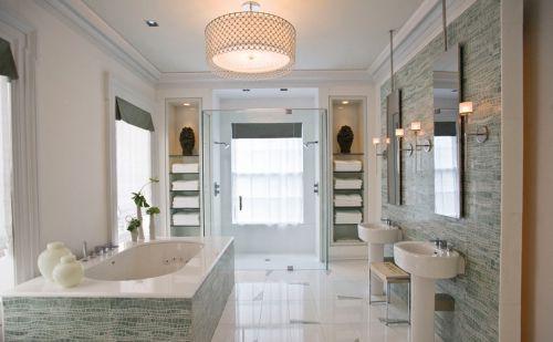 现代风格米色卫生间个性灯具设计效果图