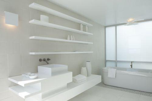 现代简约风格时尚卫生间储物柜设计效果图