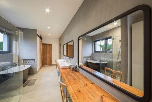 现代风格大气舒适卫生间洗手台效果图