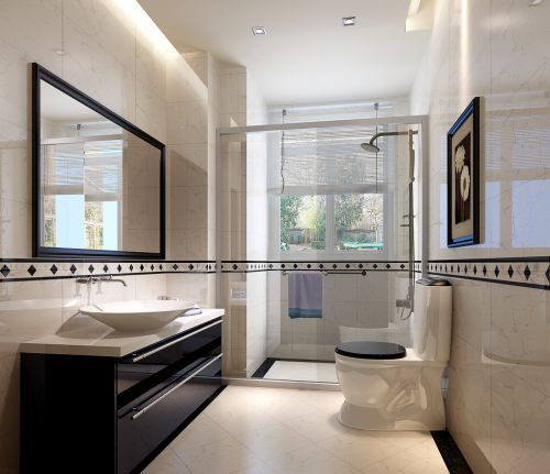 后现代风格四居室卫生间装修效果图大全