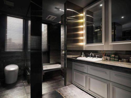 现代风格低奢灰色系卫生间装修图片