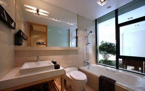 现代风格温婉大气卫生间浴缸装修效果图