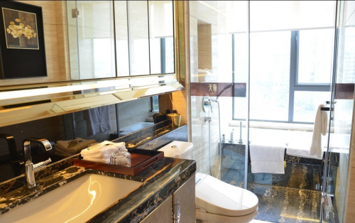 现代风格三居室卫生间装修效果图大全
