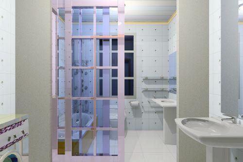 现代简约风格卫生间纯白色洗手台效果图