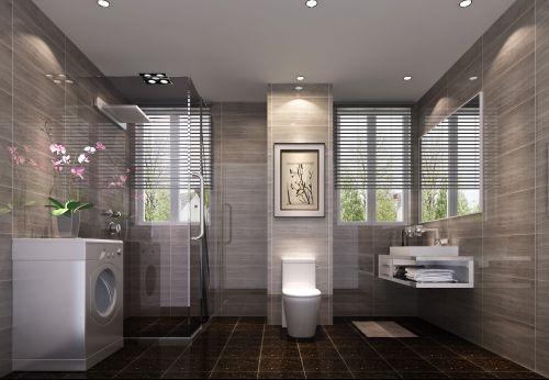 现代简约二居室卫生间装修效果图大全