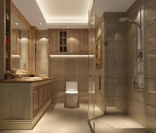 现代简约三居室卫生间储物柜梳妆台装修效果图大全