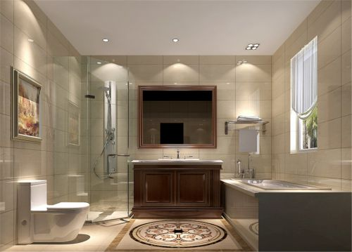 现代简约三居室卫生间装修图片欣赏