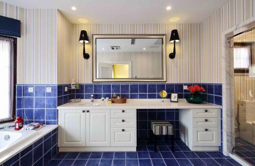 现代美式四居室卫生间梳妆台灯具装修图片