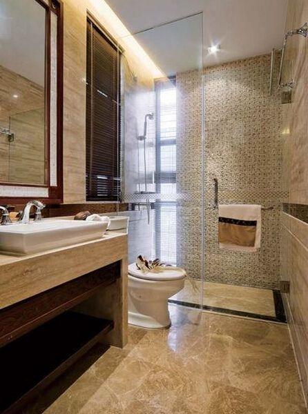 现代简约二居室卫生间走廊装修图片