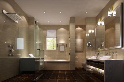 现代简约别墅卫生间装修效果图欣赏