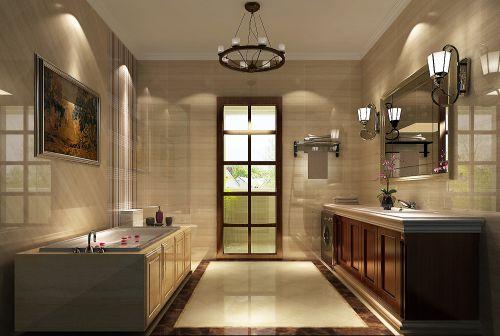 现代简约三居室卫生间梳妆台灯具装修图片