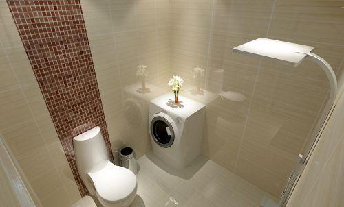 现代简约二居室卫生间浴室柜装修图片