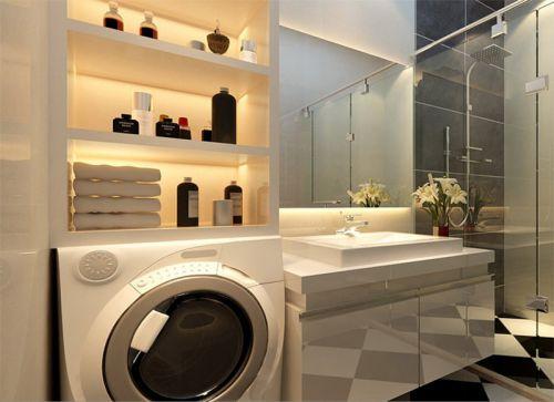 现代简约二居室卫生间浴室柜装修效果图欣赏