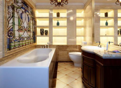 后现代风格三居室卫生间装修图片欣赏