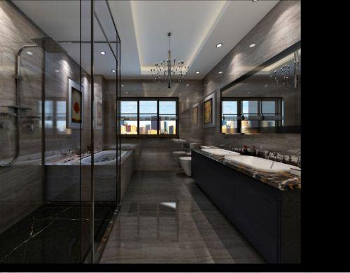 现代简约三居室卫生间浴缸装修图片