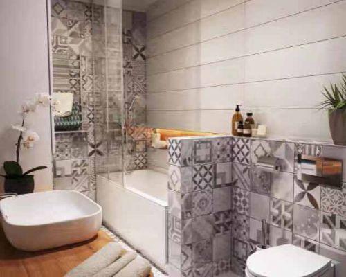 现代简约一居室卫生间灯具装修效果图大全