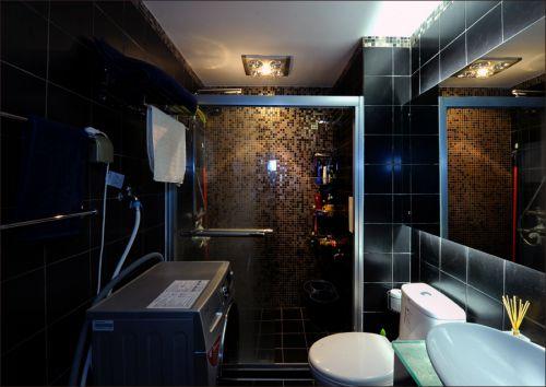 现代前卫一居室卫生间浴缸装修效果图