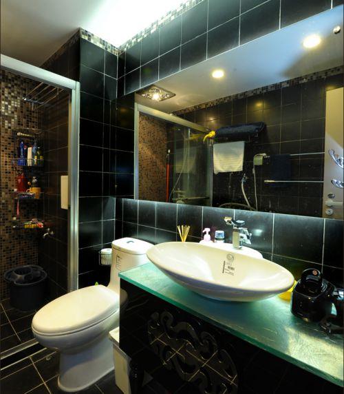 现代前卫一居室卫生间储物柜梳妆台装修效果图