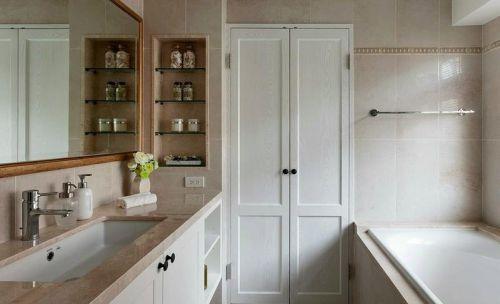 现代简约二居室卫生间灯具装修效果图大全