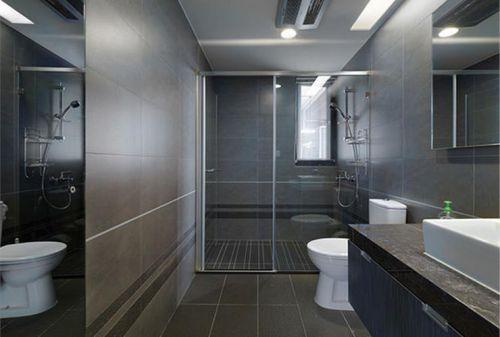 现代简约三居室卫生间瓷砖装修效果图