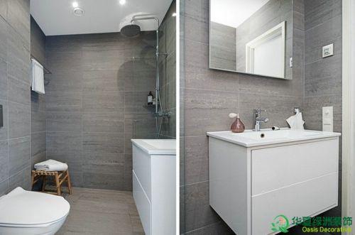 现代简约一居室卫生间组合柜装修效果图欣赏