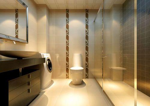 现代简约二居室卫生间储物柜梳妆台装修效果图大全