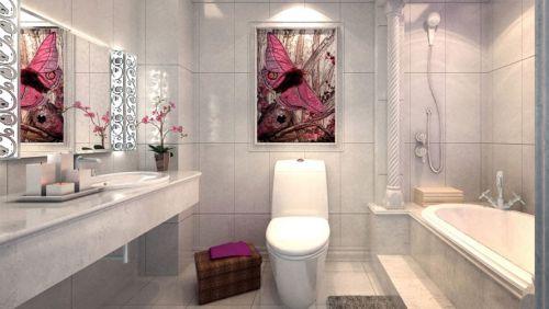 现代简约二居室卫生间屏风储物柜装修效果图欣赏