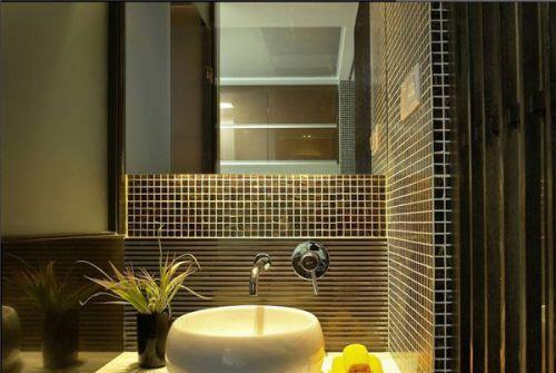 现代中式三居室卫生间装修效果图大全