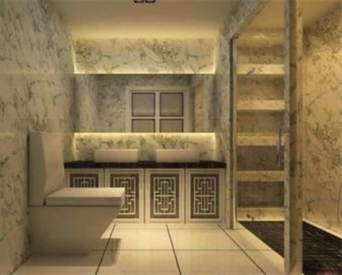 现代简约二居室卫生间灯具装修图片