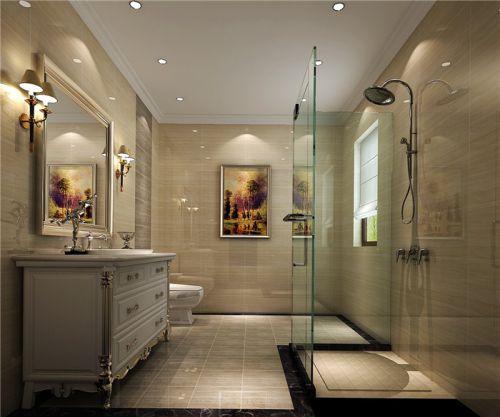 现代简约五居室卫生间装修效果图欣赏