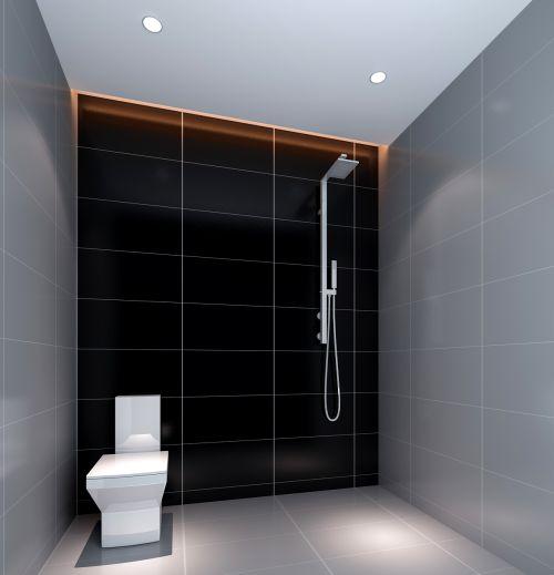 现代简约二居室卫生间瓷砖装修效果图