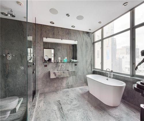 现代简约四居室卫生间浴缸装修效果图大全